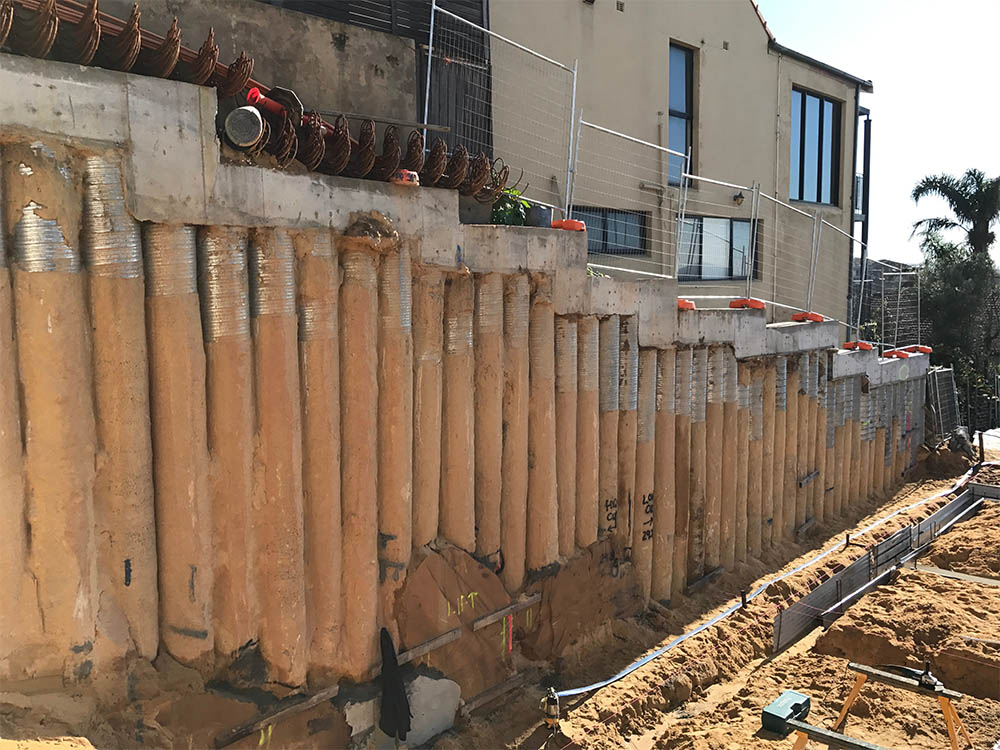 Contiguous Piling Project, Maroubra, On Point Piling